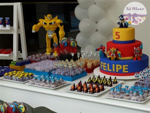 Festa Infantil Doces personalizados Transformers, festa Transformers