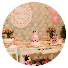 Festa Infantil Minnie Rosa Belo Horizonte Mg
